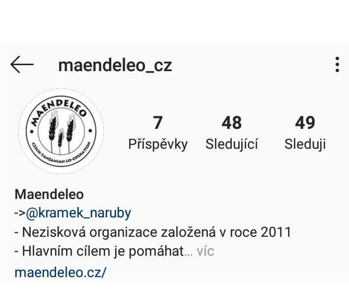 Maendeleo nově na Instagramu!